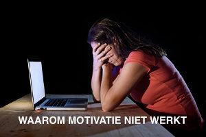 Gefrustreerde vrouw, door gebrek aan motivatie